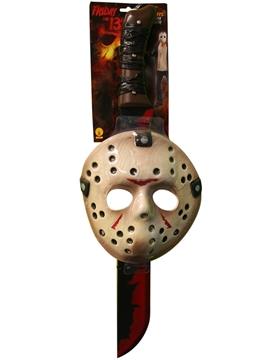 Set Máscara y Machete Jason de Viernes 13