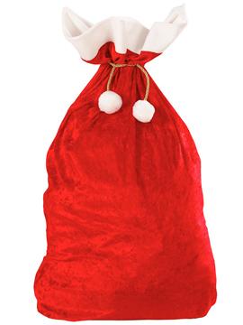 Saco de Terciopelo Papá Noel