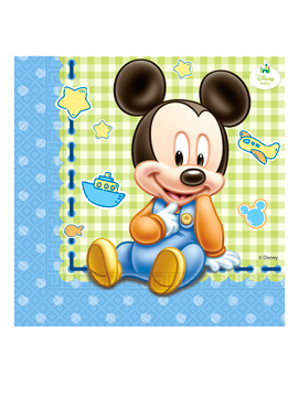Juego de 20 Servilletas Mickey Bebé