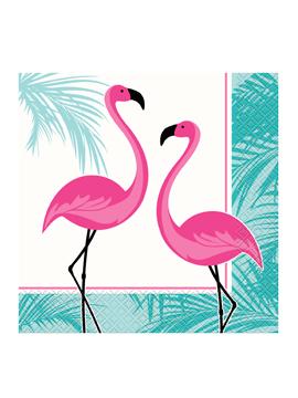 Juego de 20 Servilletas Flamingo Rosa