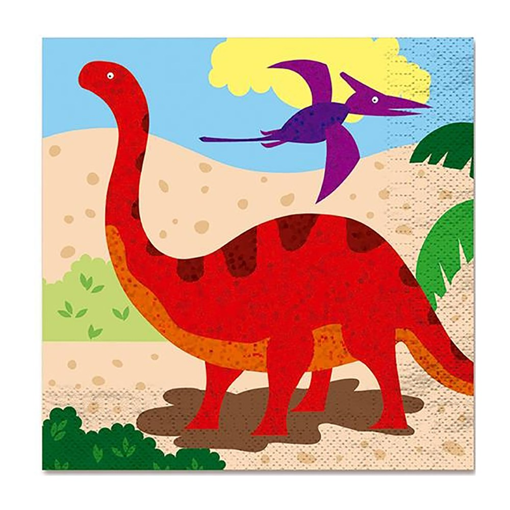 Juego de 12 Servilletas Dino Island