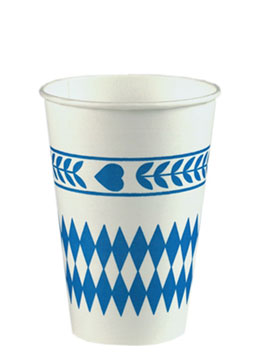 Set 10 Vasos desechables Baviera Azul