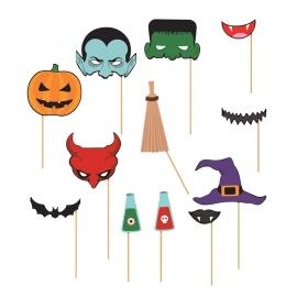 Set 12 Accesorios para Photocall Halloween