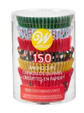 Cápsulas para cupcakes navideños 150 unidades