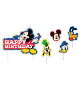 Set 17 Velas Mickey Mouse y sus Amigos