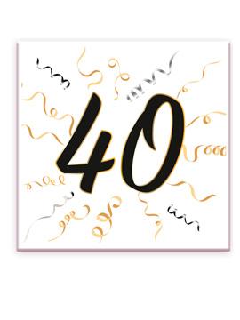 Set 20 Servilletas 40 Cumpleaños