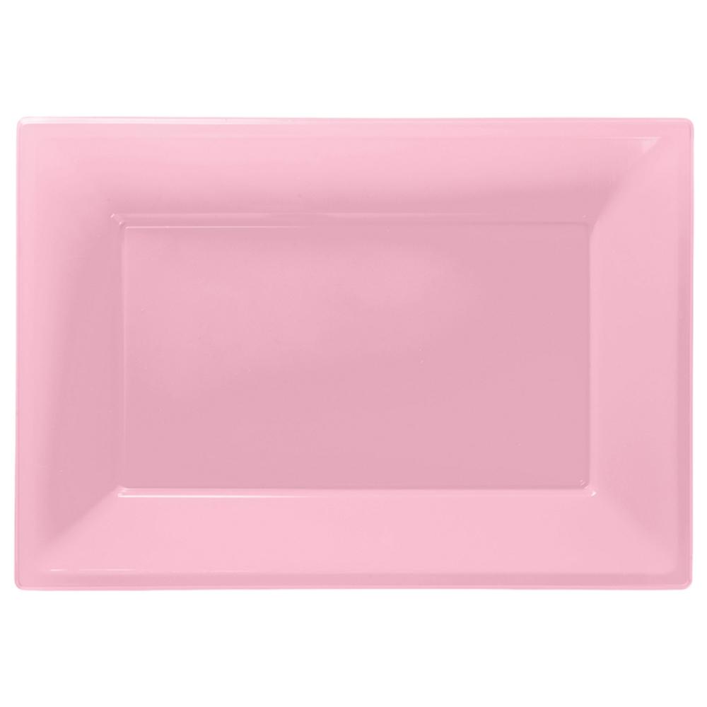 Set 3 Bandejas Rosa Pastel 33 cm x 23 cm