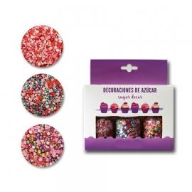 Set de 3 Decoraciones de Azúcar San Valentín