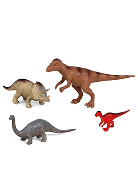 Set 4 Figuras para Tartas Dinosaurios