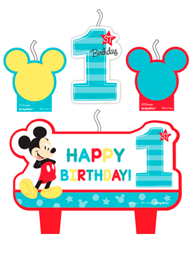 Set 4 Velas Mickey Mouse