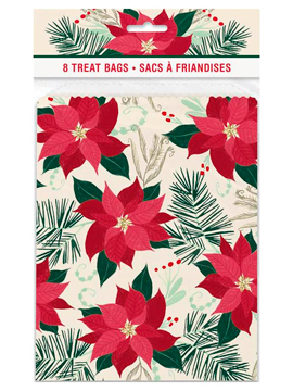 Set 8 Bolsas para Dulces Flor de Pascua
