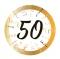 Set 8 Platos 50 Cumpleaños 23 cm