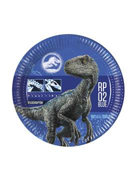 Set 8 Platos Jurassic World Modelo B 22 cm