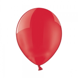 Set de 100 Globos de Látex Rojo Cristal 30 cm