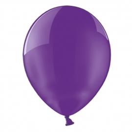 Set de 100 globos de látex Violeta cristal 30 cm