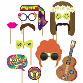 Set de 12 Accesorios para Photocall Hippie