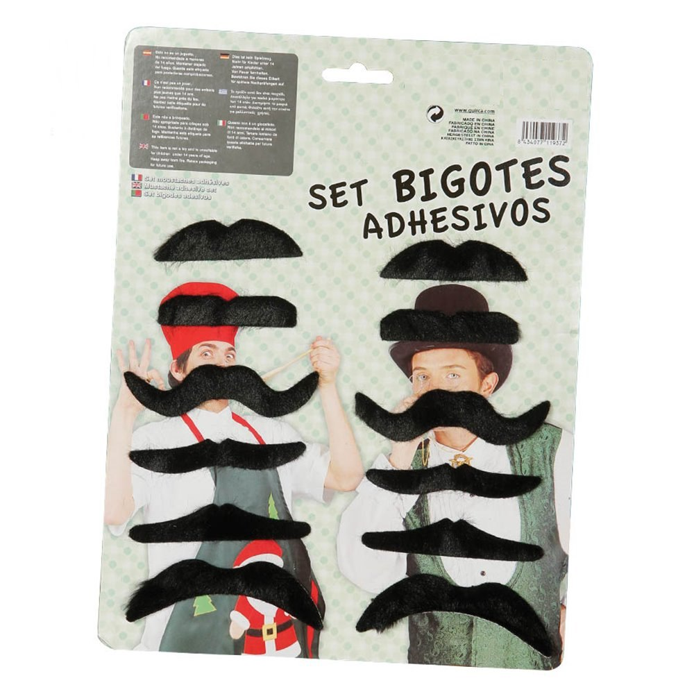 Set de 12 bigotes adhesivos