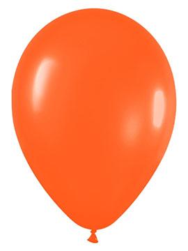 Juego de 12 Globos Naranja Mate 30 cm