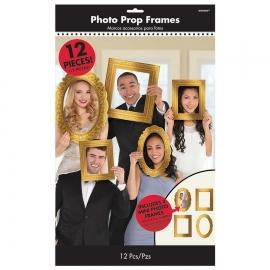 Set de 12 Marcos Dorados para Photocall