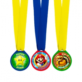 Set de 12 Medallas Super Mario