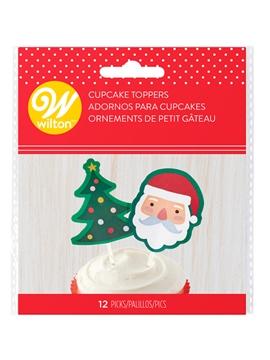 Set de 12 Toppers Navidad