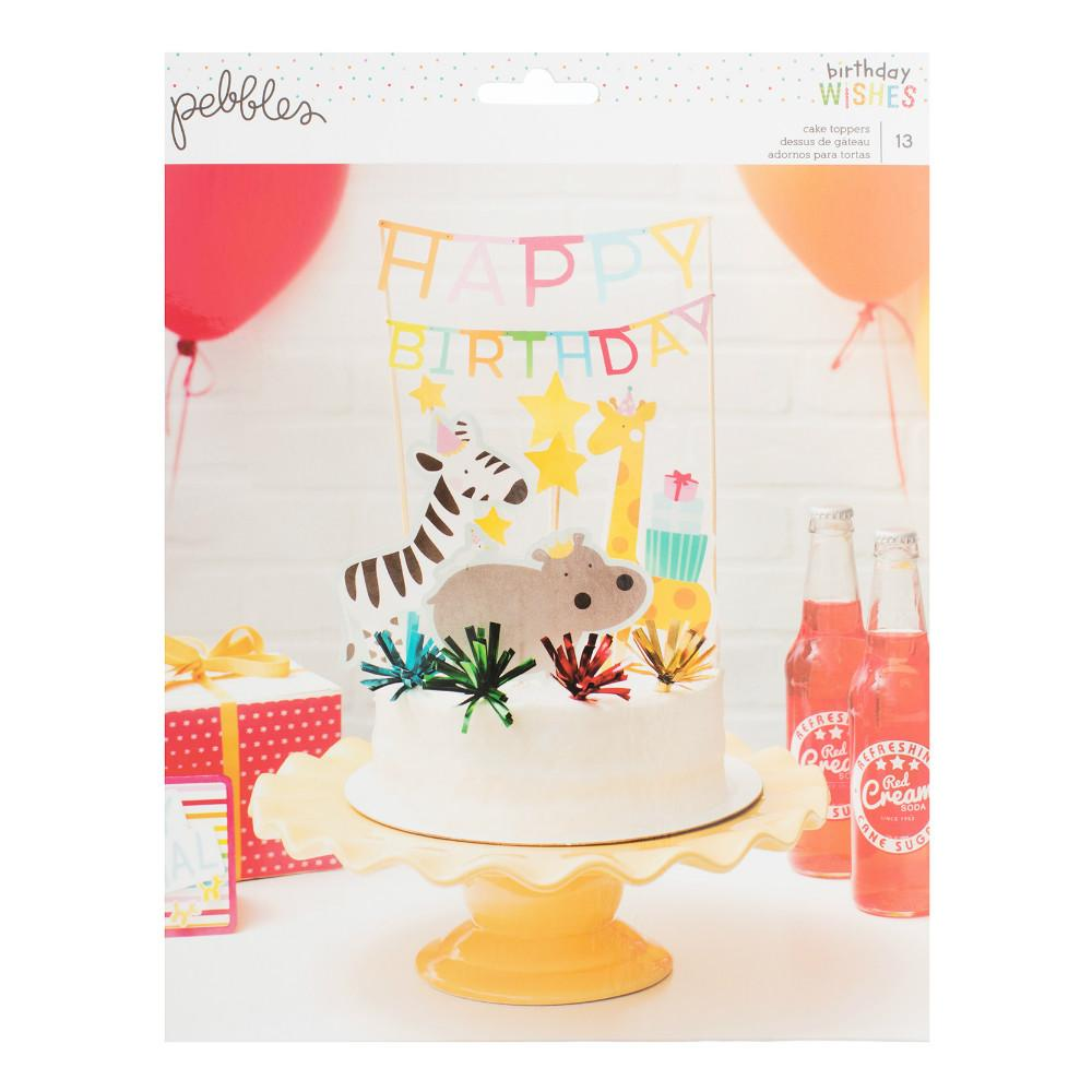 Set de 13 Toppers para Tarta Animalitos