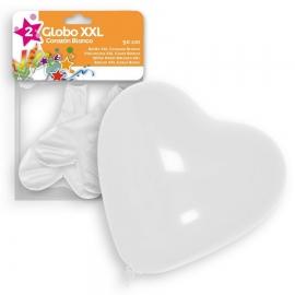 Set de 2 Globos Blancos Corazón 50 cm