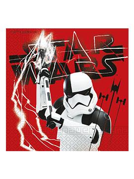 Juego de 20 Servilletas Los últimos Jedi Star Wars
