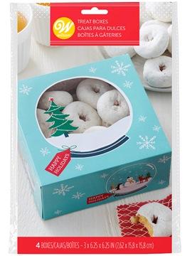 Set de 4 Cajas para Dulces Snowflakes