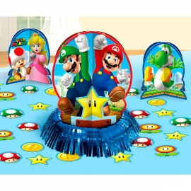 Set de 3 Centros de Mesa Súper Mario