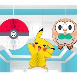 Set de 3 Decoraciones Colgantes Pokémon
