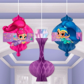 Set de 3 Decoraciones Colgantes Shimmer y Shine