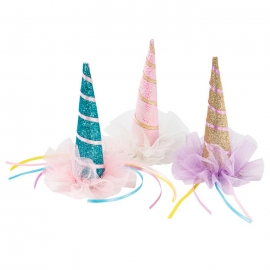 Set de 3 Mini Sombreritos Unicornio