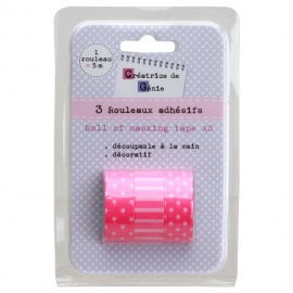 Set de 3 washi tapes color rosa