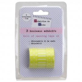 Set de 3 washi tapes verde claro