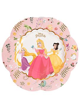 Juego de 4 Platos Flor Princesas Disney 26 cm