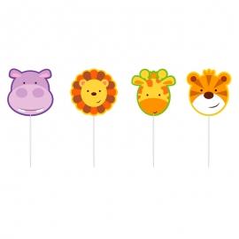 Set de 4 Velas Animales de la Selva