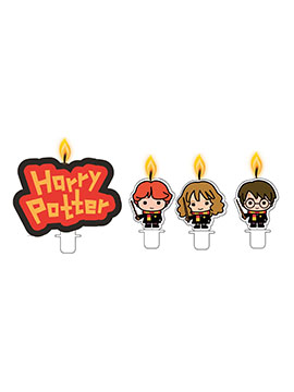 Juego de 4 Velas Cumpleaños Harry Potter