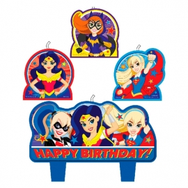 Set de 4 Velas Super Hero Girls