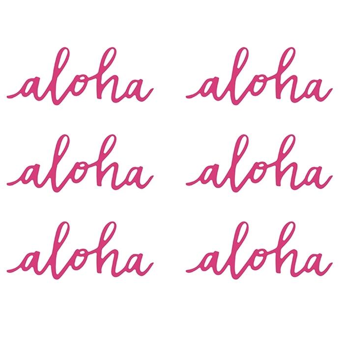 Set de 6 Decoraciones Aloha 12cm