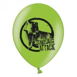 Set de 6 Globos Dinosaurios Attack 27 cm