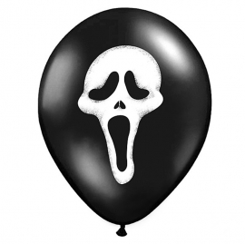 Set de 6 Globos Negros Scream