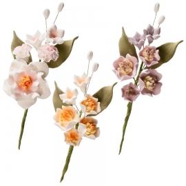 Set de 6 Ramos de Flores de Azúcar Magnolia