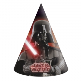 Set de 6 Sombreros Cono Star Wars