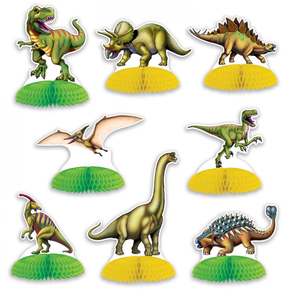 Set de 8 piezas Dinosaurio para decoración mesas