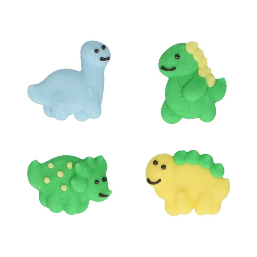 Set de 8 Decoraciones de Azúcar Dinosaurios