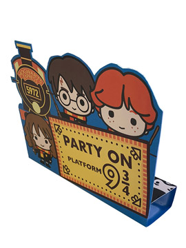 Set de 8 Invitaciones de Cumpleaños Harry Potter