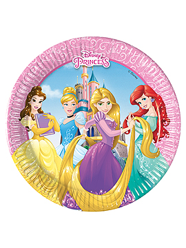 Set de 8 Platos Princesas Disney 19 cm