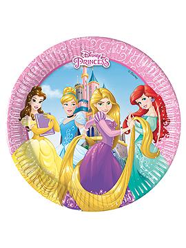 Set de 8 Platos Princesas Disney 19 cm