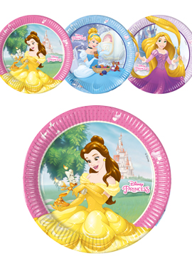 Set de 8 Platos Princesas Disney 22 cm